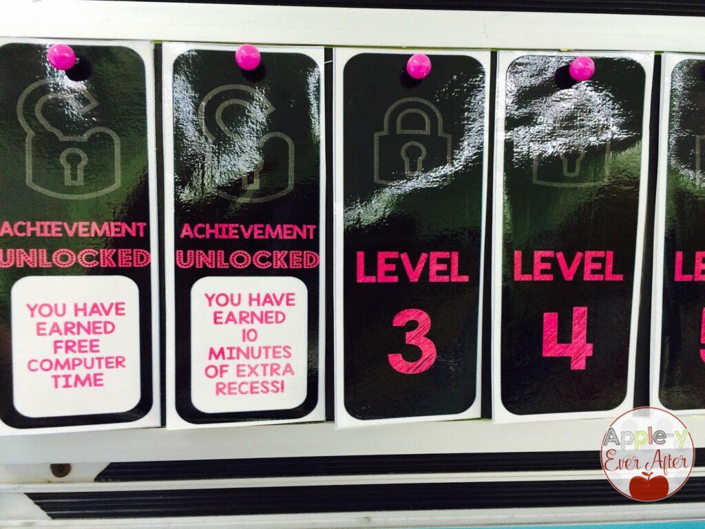 Unlocked level examples.