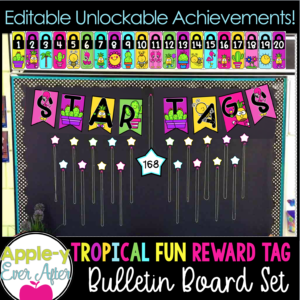 Tropical Fun Reward Tags with Unlockable levels.