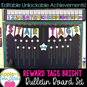 White and Bright Fun Reward Tags with Unlockable levels.