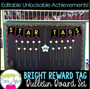 Bright Fun Reward Tags with Unlockable levels.