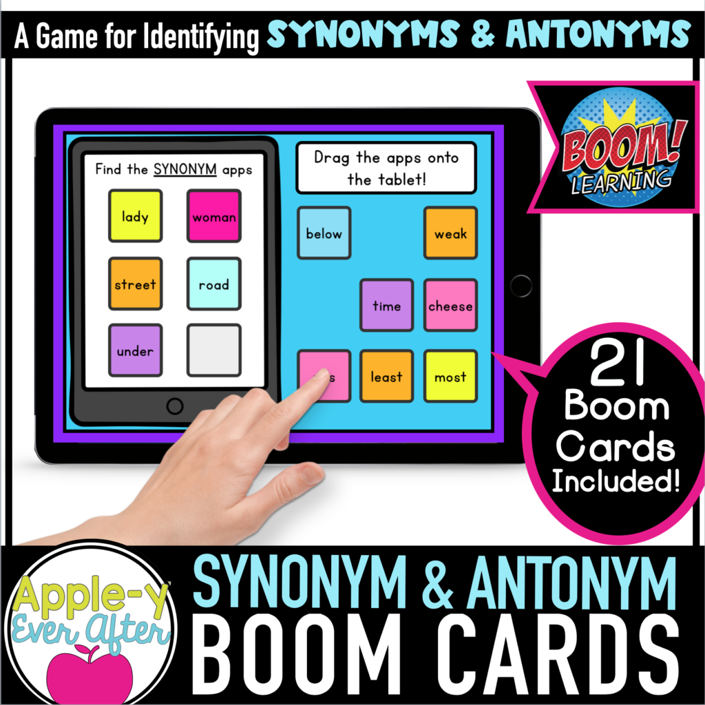 SYNONYMS & ANTONYMS BOOM CARDS